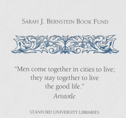 Sarah J. Bernstein Book Fund