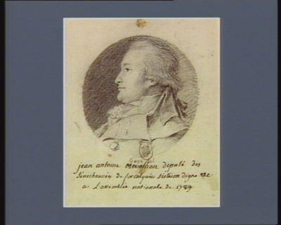 Jean Antoine Mevolhon député des sénéchaussées de Forcalquier, Sisteron, Digne etc. <em>a</em> l'Assemblée nationale de 1789 : [dessin]