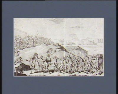 La  Désolation de l'armée prussienne battue le duc de <em>Brunswick</em> ayant passé le Rhin s'enfuit avec son manifeste à Berlin... : [estampe]