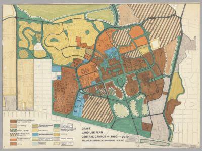Draft Land Use Plan, Central Campus, 1980-2010, 1980