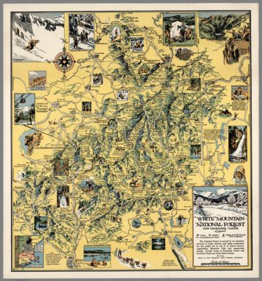 White Mountain National Forest New Hampshire Maine This map
