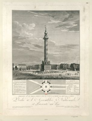 Projet d'un monument pour consacrer la Révolution dedié à l'Assemblée nationale et presenté au roi... : [estampe]