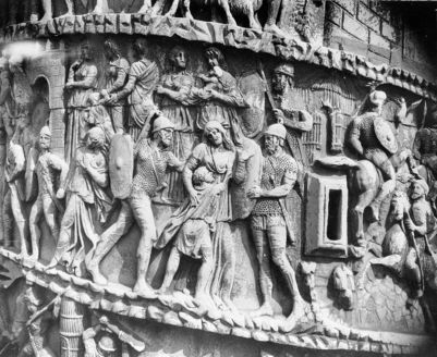 Column of Marcus Aurelius, three relief bands from the column featuring scenes from the Marcomannic Wars