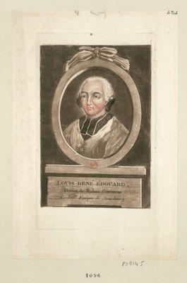 Louis René Edouard, prince de Rohan Guéméné cardinal evêque de Strasbourg : [estampe]