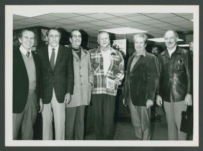 Surviving  members of the Yerba Buena Jazz Band: Wally Rose, Harry Mordecai, Pat Patton, Lu Watters, Turk Murphy and Bob Helm