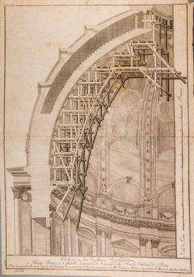 Chiesa di S. Pietro in Vaticano. Cupola, armatura in legno per restauri