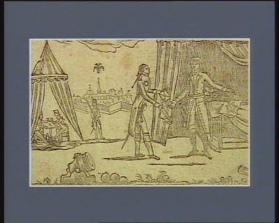 [Tableau historique de l'expédition secrète du général Buonaparte, en Syrie] [estampe]