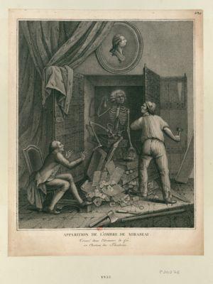 Apparition de l'ombre de Mirabeau trouvé dans l'armoire de fer au chateau des Thuileries : [estampe]