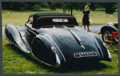 Bugatti Type 57C (1939) Cabriolet Van Vooren. Road & Track Salon October 1986