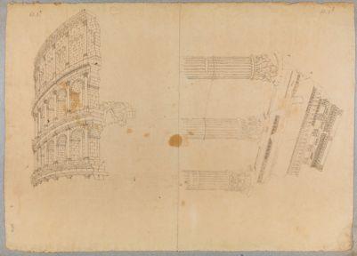 Colosseo, studi sulle arcate