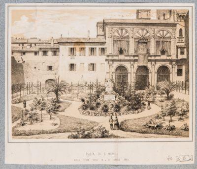 Chiesa di S. Marco, prospetto e giardino antistante