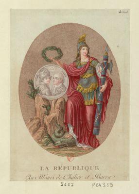La  République aux mânes de Chalier et Barra : [estampe]