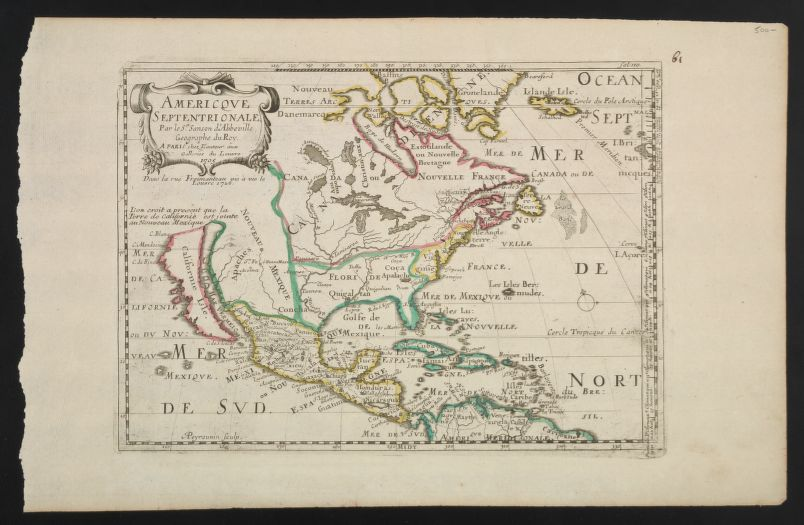 Nicolas Sanson, A. Peyrounin: Mapa de América septentrional (1726).