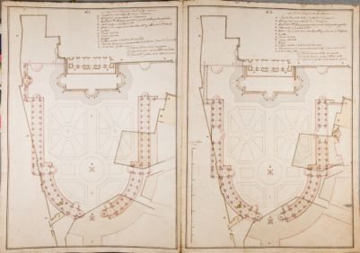 S. Giovanni in Laterano. Piazza, progetto, pianta