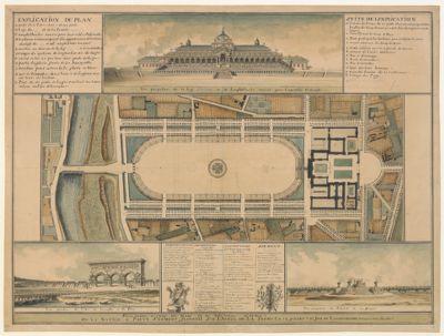 Plan general du <em>Champ</em> <em>de</em> <em>Mars</em> et du nouveau civique, ou la nation a prete serment feder. tif sur l'autel <em>de</em> la patrie le 14 juillet 1790 jour <em>de</em> lanniversaire <em>de</em> la prise <em>de</em> la Bastille [dessin]