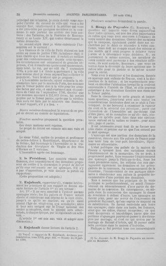 Tome 18 : Du 12 août au 15 septembre 1790 - page 38