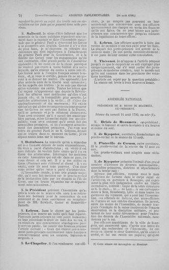 Tome 18 : Du 12 août au 15 septembre 1790 - page 72