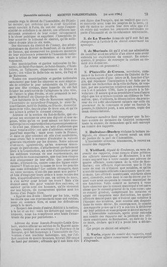 Tome 18 : Du 12 août au 15 septembre 1790 - page 73