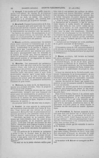Tome 18 : Du 12 août au 15 septembre 1790 - page 82