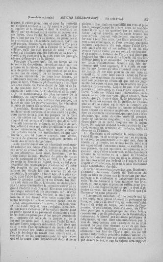 Tome 18 : Du 12 août au 15 septembre 1790 - page 83