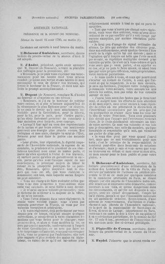 Tome 18 : Du 12 août au 15 septembre 1790 - page 88