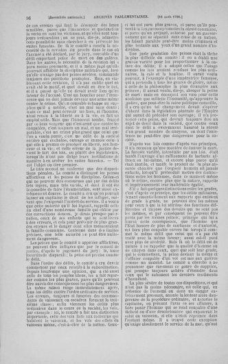 Tome 18 : Du 12 août au 15 septembre 1790 - page 96