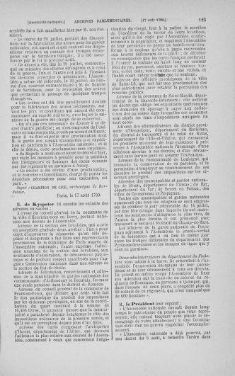 Tome 18 : Du 12 août au 15 septembre 1790 - page 125