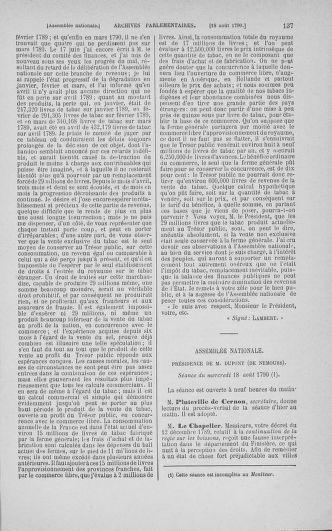 Tome 18 : Du 12 août au 15 septembre 1790 - page 137
