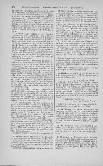 Tome 18 : Du 12 août au 15 septembre 1790 - page 138