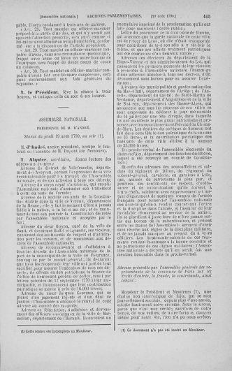 Tome 18 : Du 12 août au 15 septembre 1790 - page 165