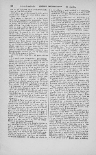 Tome 18 : Du 12 août au 15 septembre 1790 - page 166