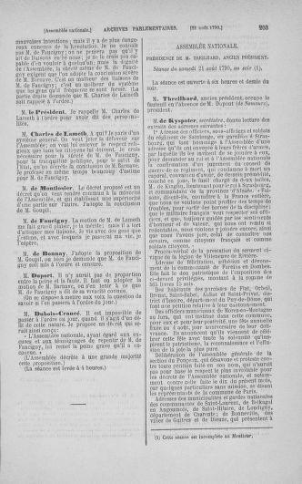 Tome 18 : Du 12 août au 15 septembre 1790 - page 203