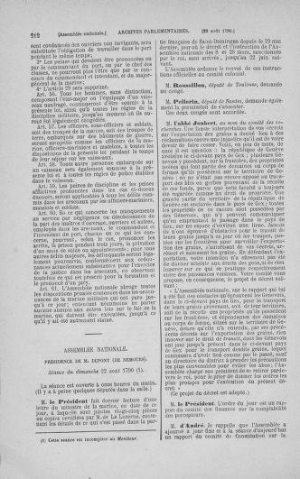 Tome 18 : Du 12 août au 15 septembre 1790 - page 212
