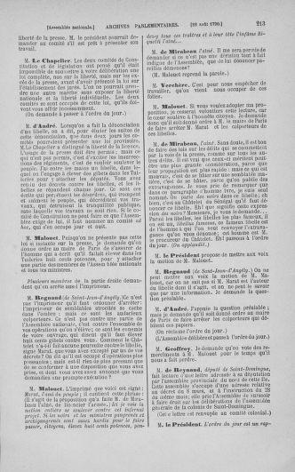 Tome 18 : Du 12 août au 15 septembre 1790 - page 213