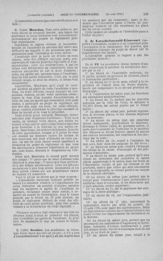 Tome 18 : Du 12 août au 15 septembre 1790 - page 245