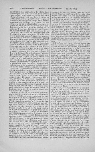 Tome 18 : Du 12 août au 15 septembre 1790 - page 250