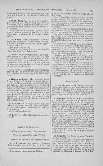 Tome 18 : Du 12 août au 15 septembre 1790 - page 259