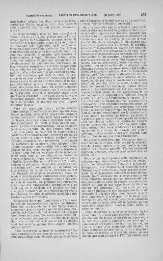 Tome 18 : Du 12 août au 15 septembre 1790 - page 265