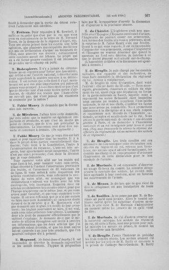Tome 18 : Du 12 août au 15 septembre 1790 - page 267