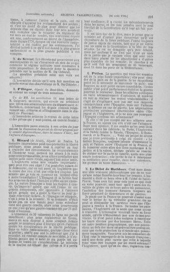 Tome 18 : Du 12 août au 15 septembre 1790 - page 291