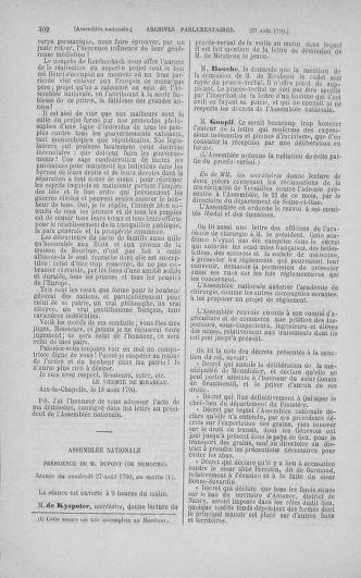 Tome 18 : Du 12 août au 15 septembre 1790 - page 302