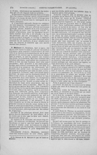 Tome 18 : Du 12 août au 15 septembre 1790 - page 370