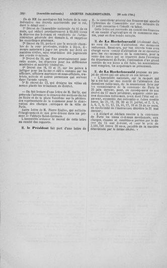 Tome 18 : Du 12 août au 15 septembre 1790 - page 380