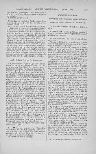 Tome 18 : Du 12 août au 15 septembre 1790 - page 399