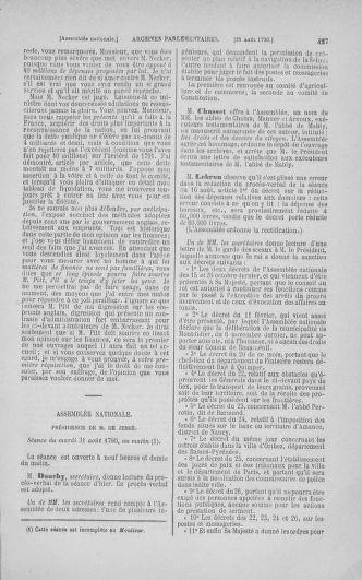 Tome 18 : Du 12 août au 15 septembre 1790 - page 427