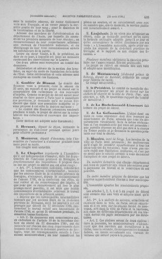 Tome 18 : Du 12 août au 15 septembre 1790 - page 435