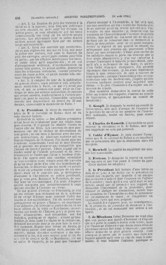 Tome 18 : Du 12 août au 15 septembre 1790 - page 436
