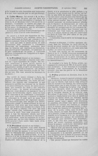 Tome 18 : Du 12 août au 15 septembre 1790 - page 511