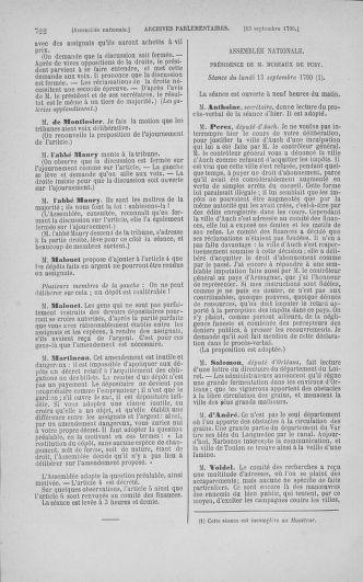 Tome 18 : Du 12 août au 15 septembre 1790 - page 722