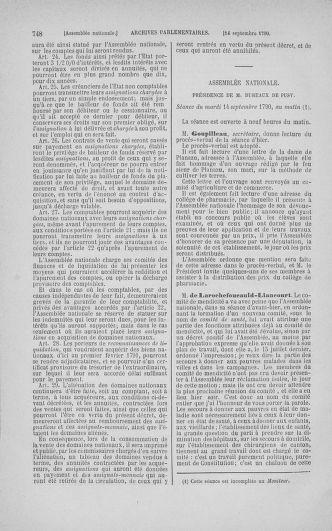 Tome 18 : Du 12 août au 15 septembre 1790 - page 748